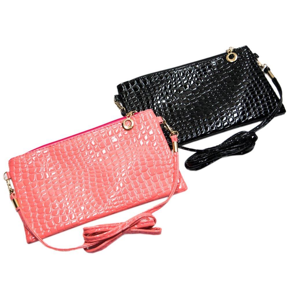 Nicole Bouvier Cross Body Handbag Set of 2 Fancy Black & Pink 2018 Limited Summer Edition for Ladies: Handbags: Amazon.com