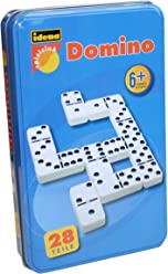 Idena 6050012 - Domino Double Six, Metall-Box