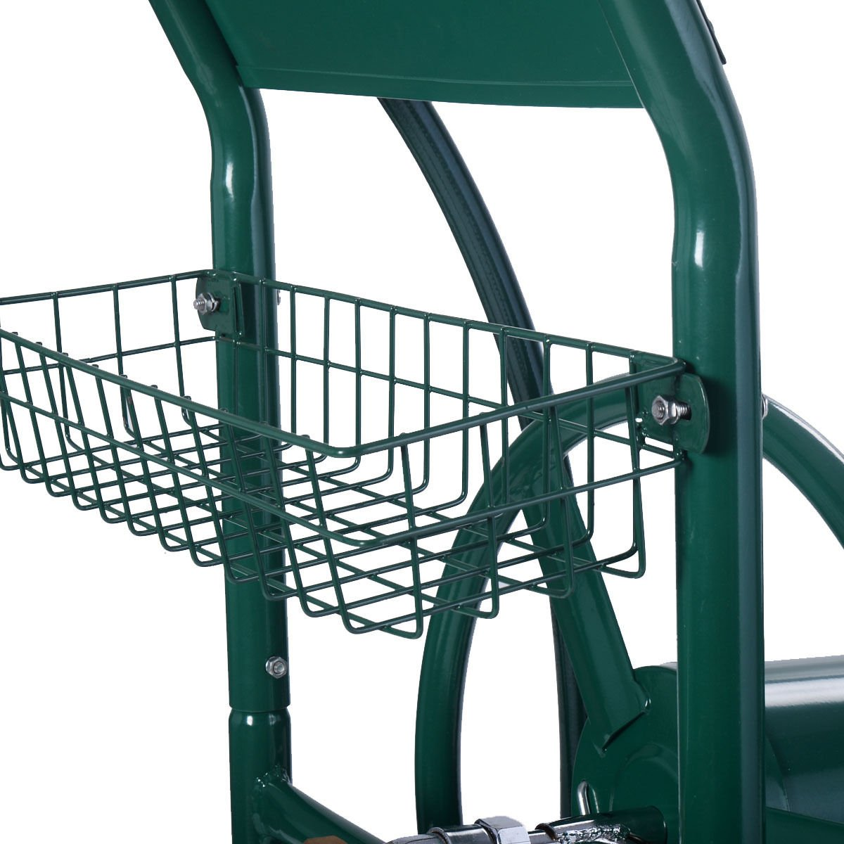 Wakrays Garden Water Hose Reel Cart 300FT Outdoor Heavy Duty Yard Planting W/Basket New by Wakrays (Image #4)