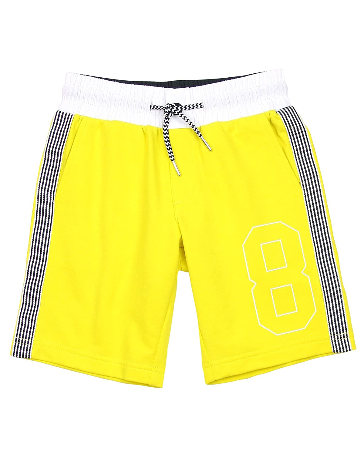 Sizes 8-16 Mayoral Junior Boys Terry Shorts with Stripes Yellow