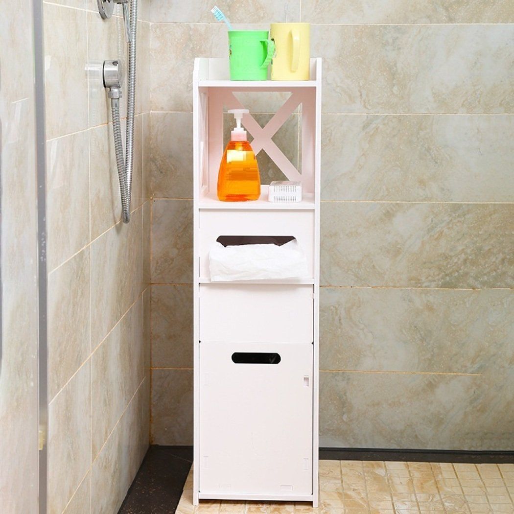 GL&G Bathroom Furniture Waterproof paper, toilet side cabinet Landing formula Bathroom cabinet combination,B