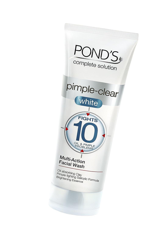 Ponds Pimple Clear White Multi Action Facewash, 50g by Ponds