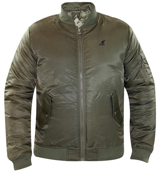 86fa3976c06 New Men s Kangol Summer MA1 Bomber Jacket Water Repellent Short Parka  Padded Coat  Amazon.co.uk  Clothing