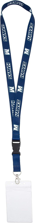 w//Pouch Monmouth University Hawks NCAA Car Keys College ID Badge Holder Lanyard Keychain Detachable Breakaway Snap Buckle
