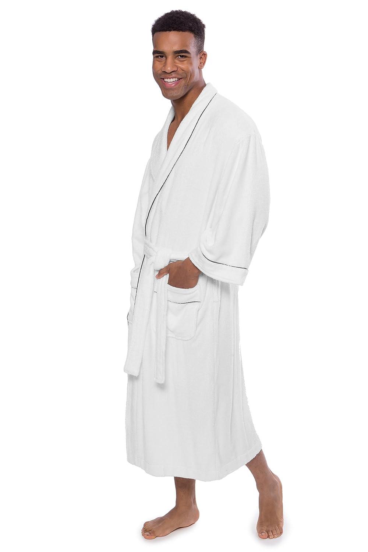 Texere Mens Luxury Terry Cloth Bathrobe Soft Spa Robe for Him EcoComfort