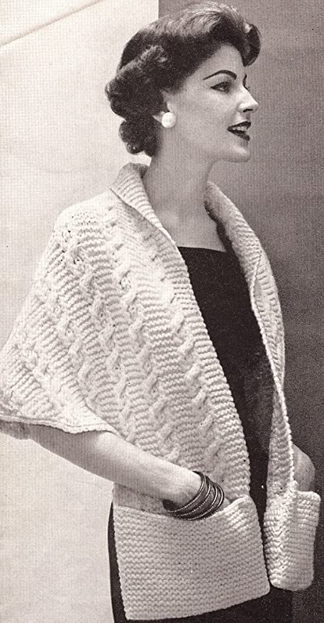 Amazon Vintage Knitting Pattern To Make Knitted Warm Shawl
