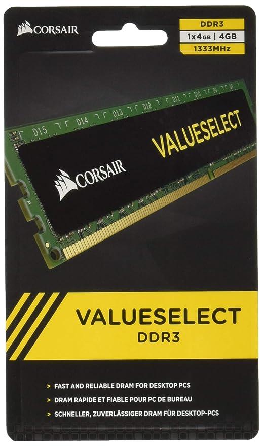 CORSAIR CMV4GX3M1A1333C9 Corsair 4GB (1x4GB) DDR3 1333 MHz (PC3 10666)  Desktop Memory 1 5V