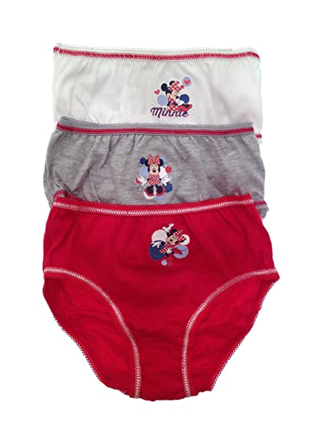 Ladies Grey M Cotton Minnie Mouse Briefs Sizes S L