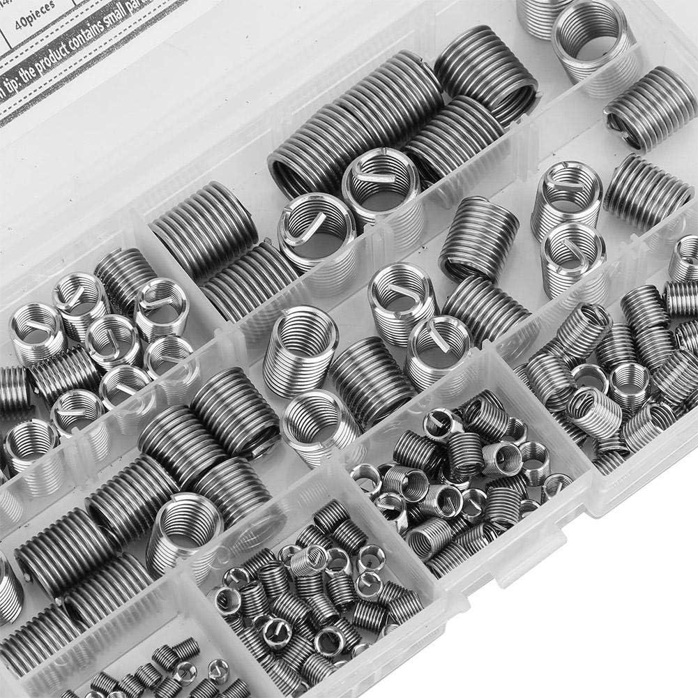 200pcs Thread Insert Screw Repair Tool Stainless Steel Threaded Insert Long Service Life Wardrobes Wooden Doors for Furniture Cabinets Thread Repair Insert