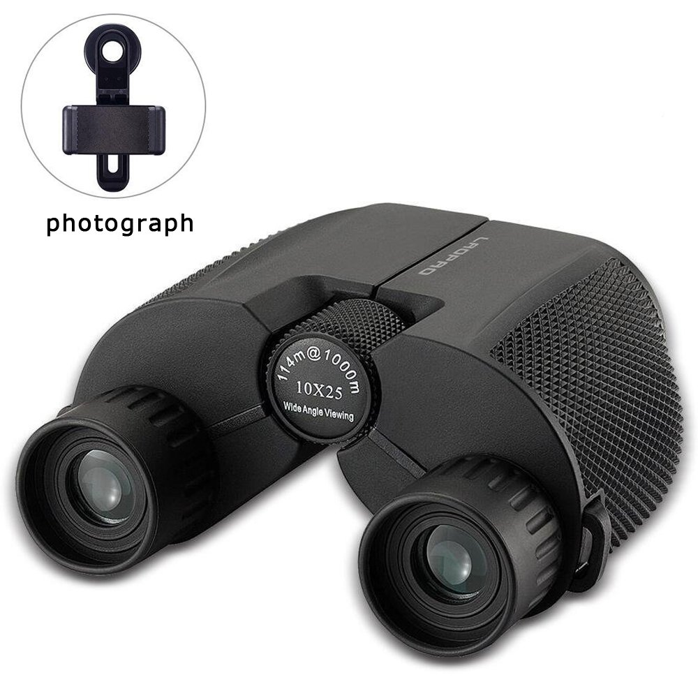 10x25 Binoculars for Adult Children for Outdoor Sports Games and Concerts Fogproof and Durable HD Bird Watching Concert Small Binoculars 0.5Ib by LAOPAO