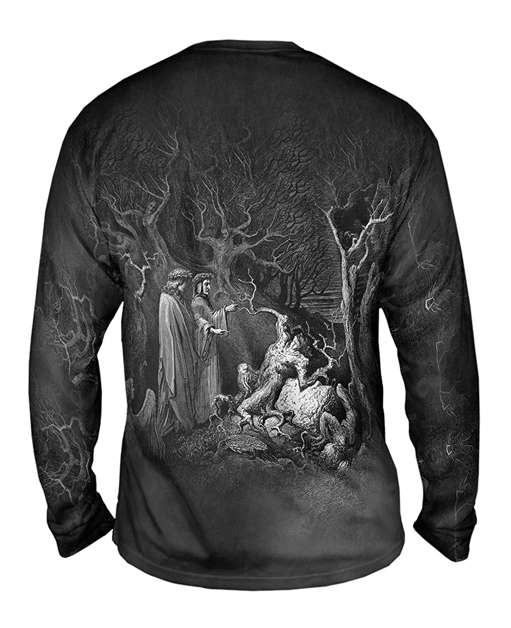 The Inferno Canto 13 -TShirt- Mens Long Sleeve 1857 Yizzam- Gustave Dore