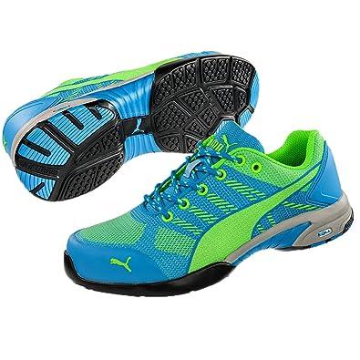 4dd945cbcff7 Puma 642900.35 Celerity Knit Blue Chaussures de sécurité pour Femme Low S1P HRO  SRC Taille 35