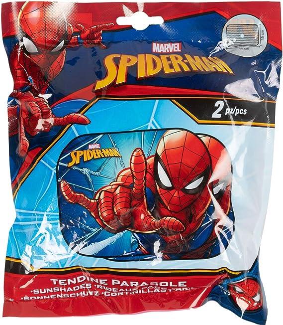 Marvel Spiderman Sunshade Coppia di Tendine Laterali Parasole Auto Spiderman Uomo Ragno Bambino