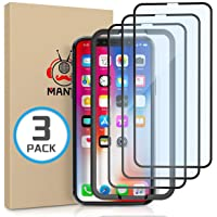 MANTO 3-Pack Screen Protector for iPhone 11 Pro and iPhone Xs X 5.8 Inch Full Coverage Tempered Glass Film Edge to Edge…