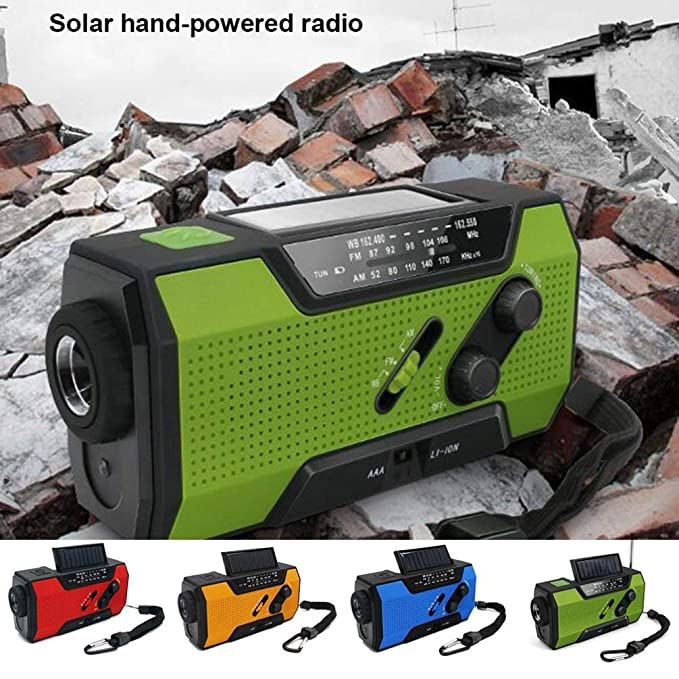 WEN - Linterna con energía Solar (Radio de Banda Completa), Color ...