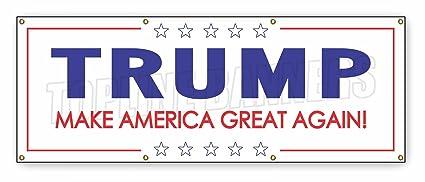 4 X 10 Ft DONALD TRUMP BANNER SIGN White Stars President Republican  Politics 2016