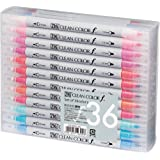 Kuretake Zig Twin Tip Marker Clean Color F, 36 Color Set (TCS-6000T/36V)