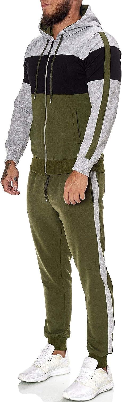 Trainings-Anzug Herren Trainingsanzug Jogging Anzug Jogginganzug Sportanzug Jogging-Anzug OneRedox Hoodie-Sporthose Modell JG-1082 Jogging-Hose
