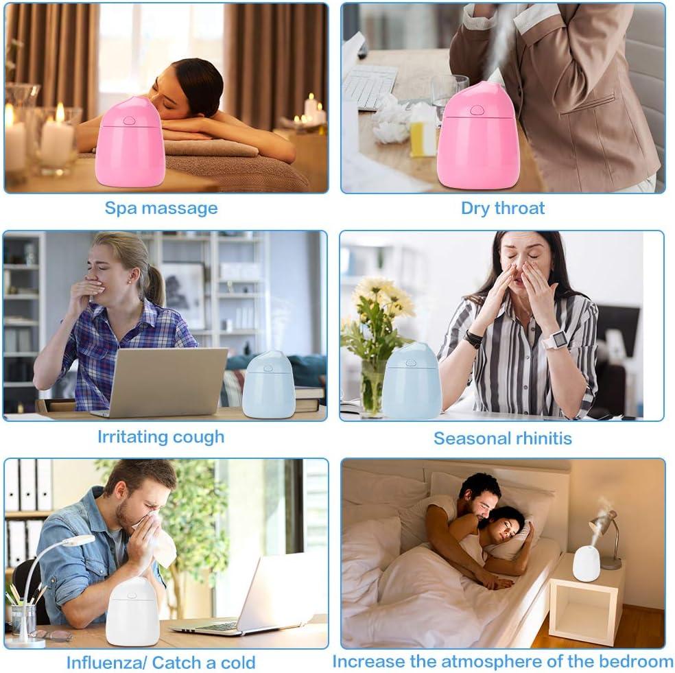 Rosa idratazione di bellezza che idrata allevia il disagio umidificatore fresco della foschia dellolio essenziale di USB con protezione dalle radiazioni Diffusore di aromi dellaria
