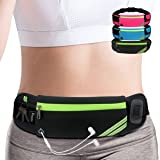 AIKENDO Running Pouch Belt Waist Pack Bag,Workout Fanny Pack,Bounce Free Jogging Pocket Belt–Travelling Money Cell Phone…