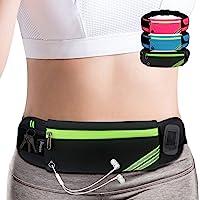 AIKENDO Running Pouch Belt Waist Pack Bag,Workout Gym Fanny Pack,Bounce Free Jogging Pocket Belt -Travelling Money Cell…