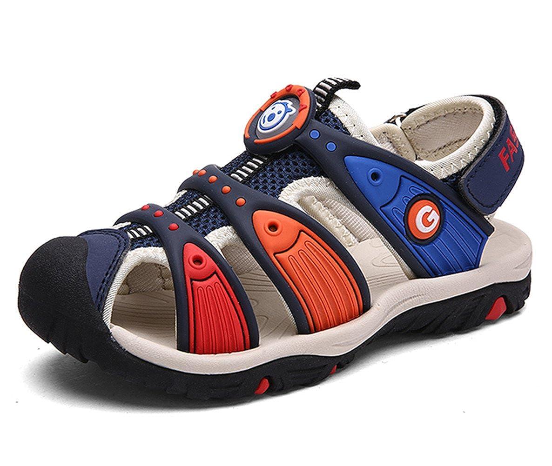 DADAWEN Boy's Girl's Summer Outdoor Breathable Athletic Bump Toe Strap Sport Sandals (Toddler/Little Kid/Big Kid) 70897TL