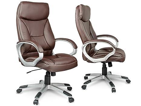 Sedie Da Ufficio In Pelle : Sedia da ufficio sedia direzionale girevole in eco pelle marrone