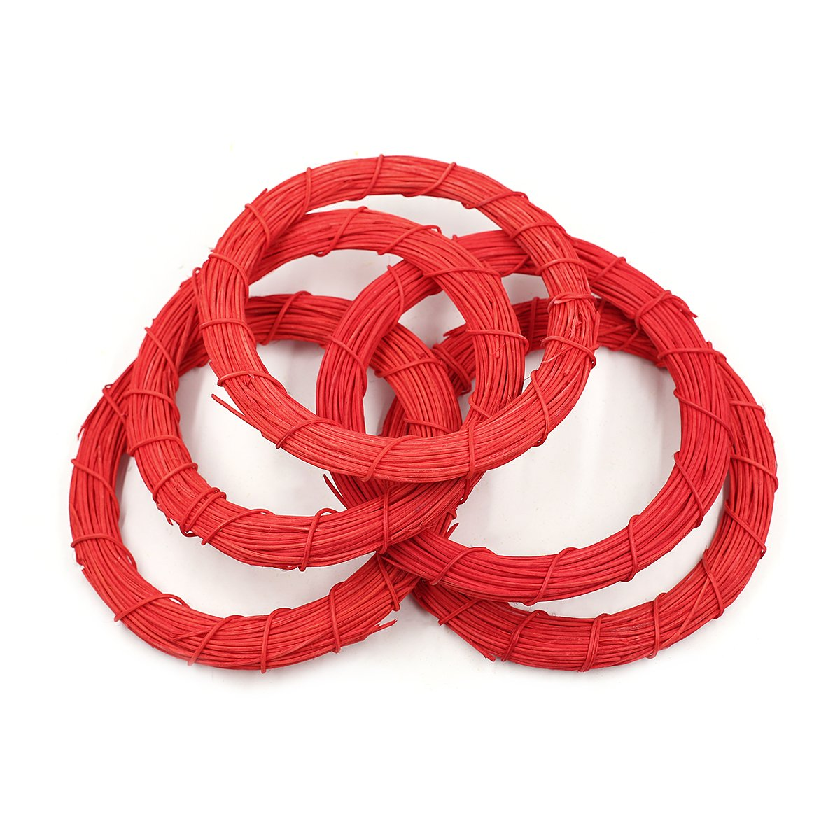 20Pcs 10cm/4inch Rattan Wreath Garland Decoration DIY Christmas Party Home Hanging Decoration Tong Yue