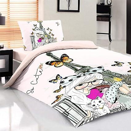 Amazon Com Maxstyle 100 Cotton Bedding Set Eiffel Tower