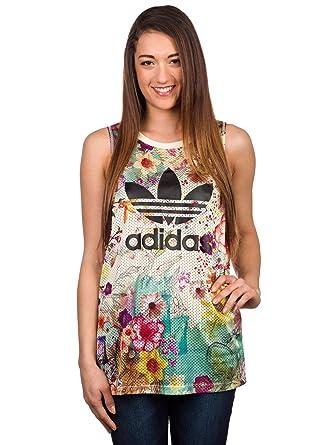 86bd0514c8c adidas Originals Damen Top Confete Loose Trefoil Tank Top: Amazon.de ...