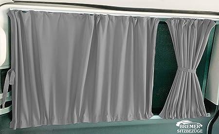 T5 Und T6 Transporter Langer Radstand Maß Gardinen Vorhänge Sonnenschutz Mit Heckklappe Farbe Grau Baby