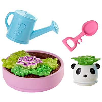 Barbie Accessory Pack, 4 Pieces, with Planter and Succulent Accessories: Toys & Games