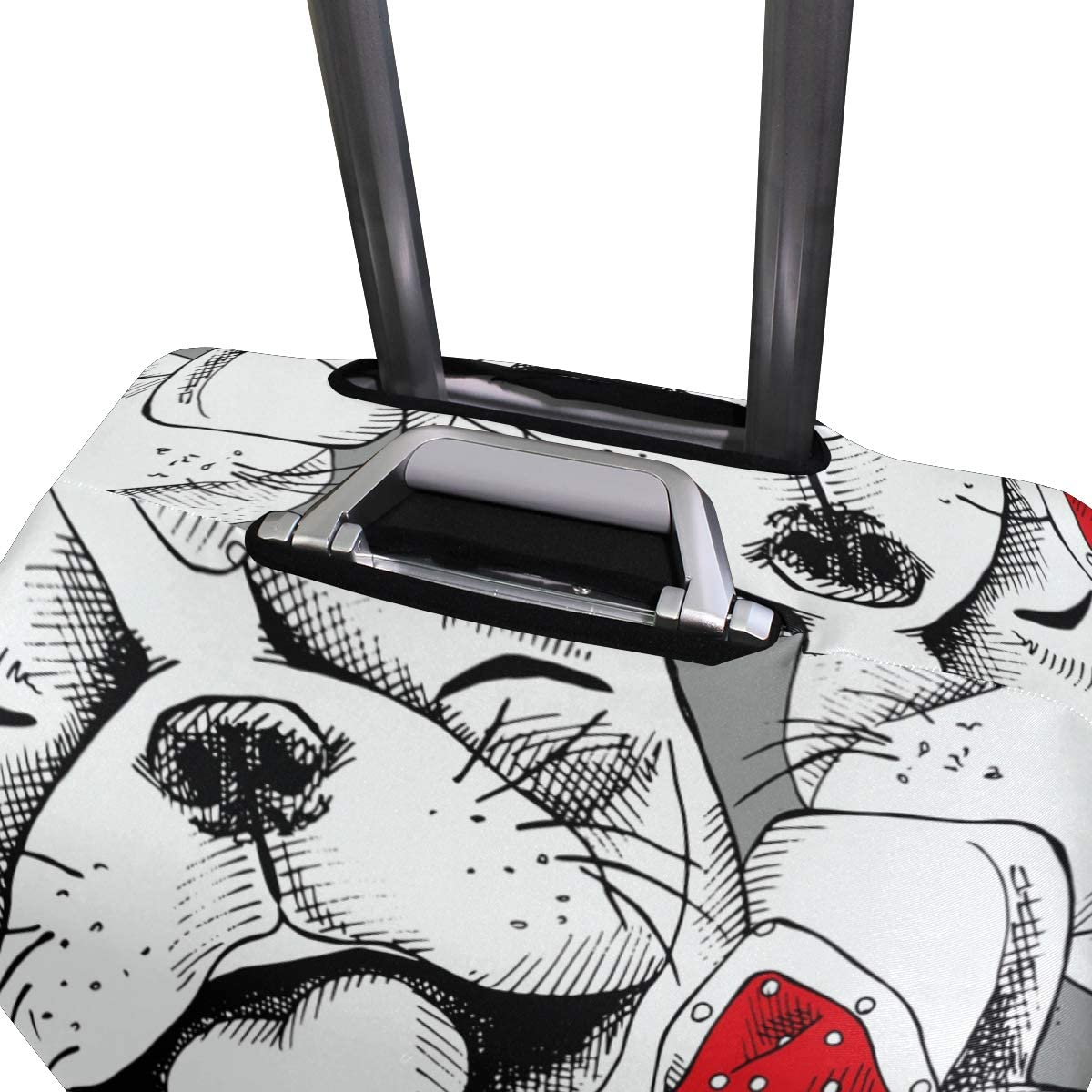 FOLPPLY French Bulldog Bow Pattern Luggage Cover Baggage Suitcase Travel Protector Fit for 18-32 Inch