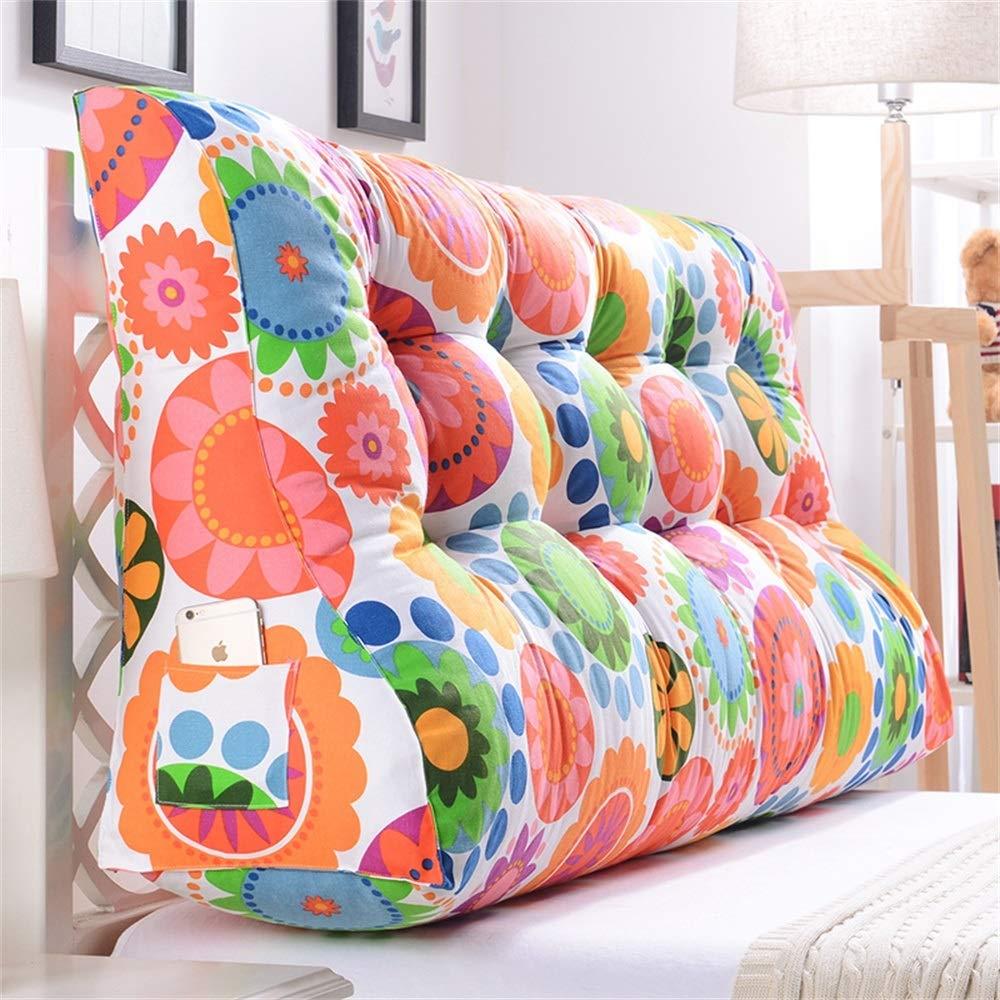 GLP ベッドサイドクッション三角背もたれ腰のソファ大きな枕張りパッド22色&8サイズで取り外し可能 (Color : L, Size : 120x30x60cm) B07S3PT1WH