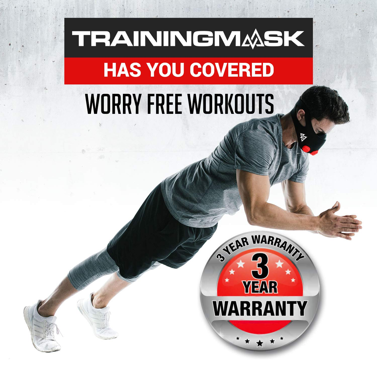 Amazon.com: Training Mask Original 2.0 Workout Mask | Cardio and Endurance Mask, Fitness Mask, Breathing Resistance Mask, Running Mask (Red, Large): Health ...