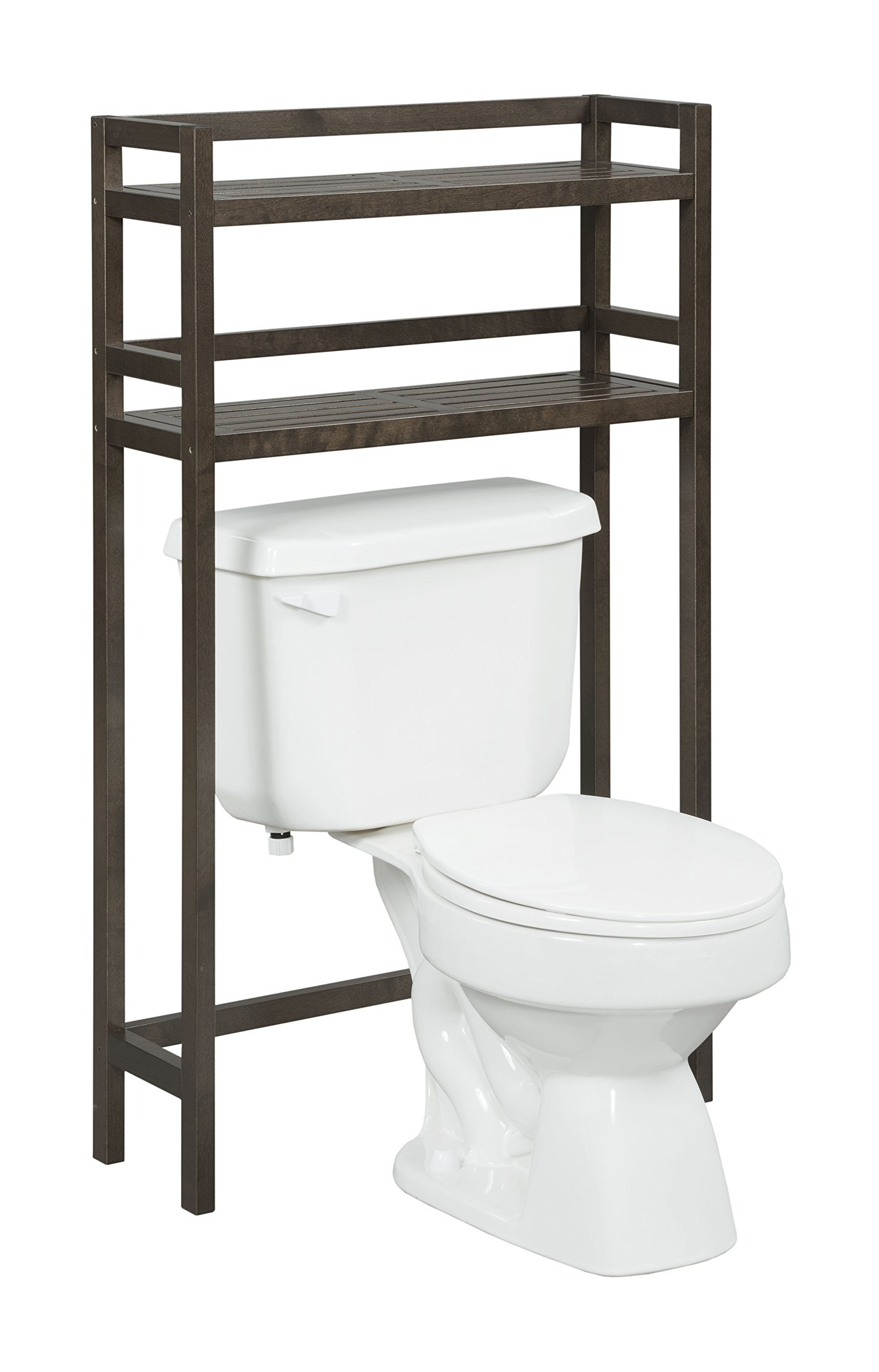 New Ridge Home Goods Dunnsville 2-Tier Space Saver with Side Storage
