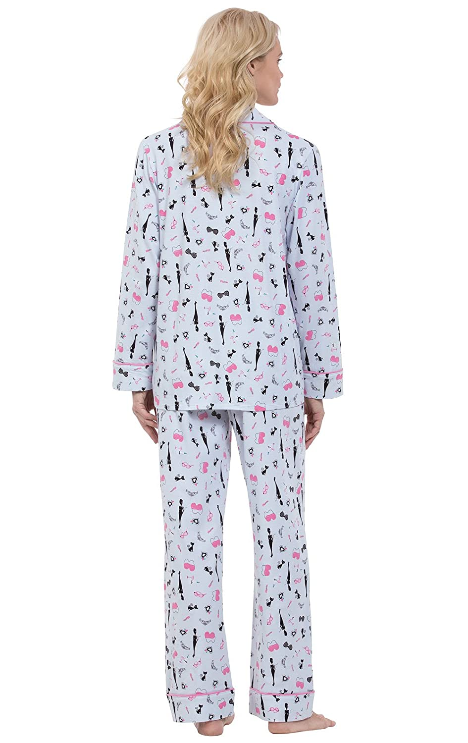 37c28d167aec PajamaGram Ladies PJs Sets Cotton - Women Sleepwear