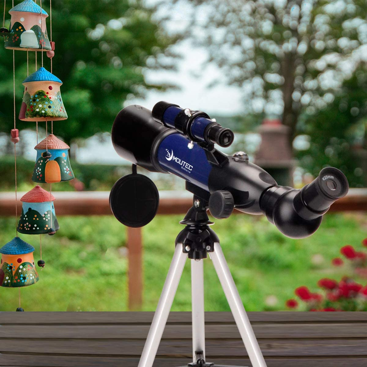 for Kids to Explore World Outside Moutec 50mm Refractor Telescope for Kids and Beginners with Tripod Moon Star Maps