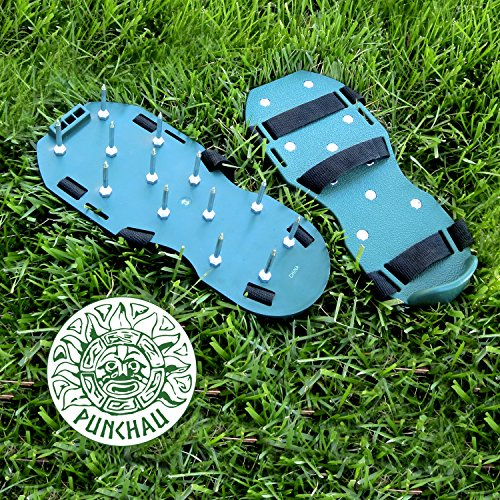 Punchau Lawn Aerator Shoes w/Metal Buckles and 3 Straps - Heavy Duty Spiked Sandals for Aerating Your Lawn or Yard by Punchau (Image #7)