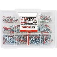 Fischer 544546 Duopower Kit universele pluggen met schroef, kleurloos.