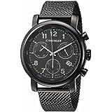 Wenger 01.1043.108 Men's Urban Classic Chrono Stainless Mesh Bracelet Black Band Black Dial Watch
