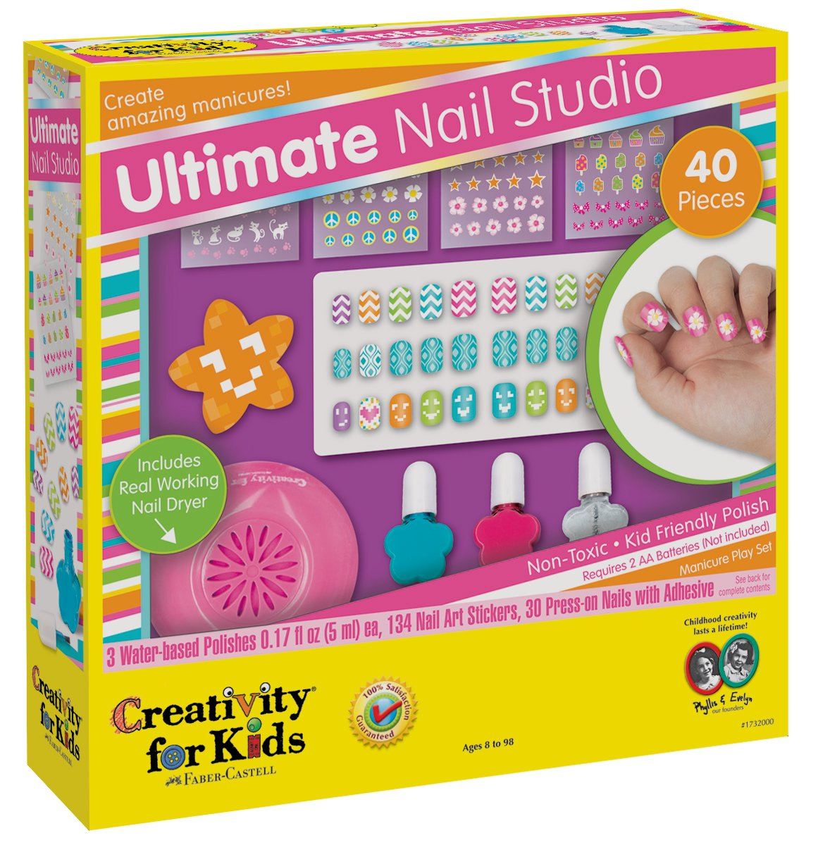 Amazon.com: Creativity for Kids Ultimate Nail Studio Manicure Play ...