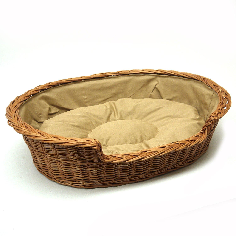 115 cm Dark XX-Large Prestige Wicker Dog Bed Basket