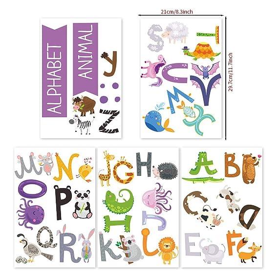 ABC Alphabet Animals Wall Stickers Decals Boy Girl Kids Nursery Home Art Decor