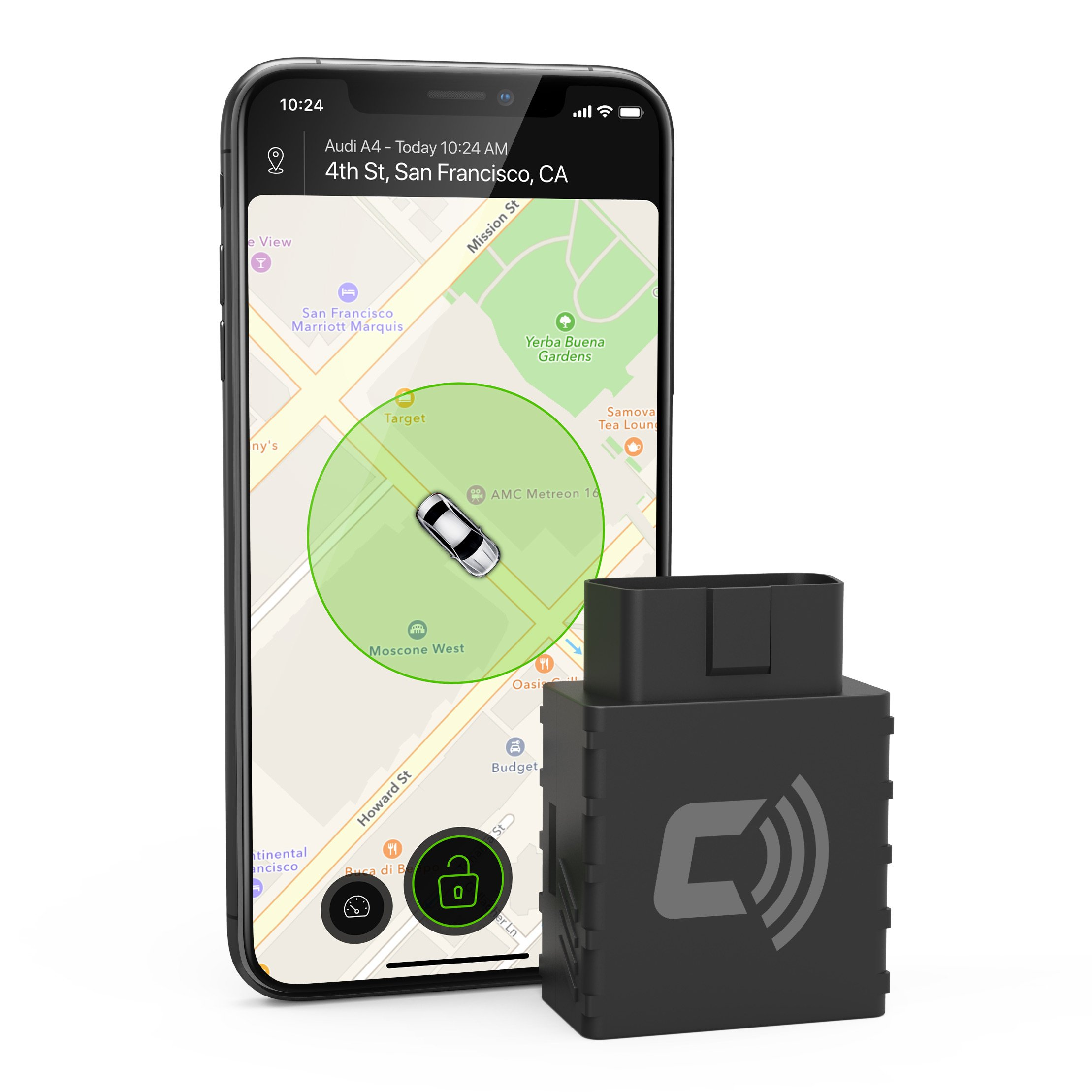 CarLock - Advanced Real Time Car Tracker & Alert System. Comes with Device & Phone App. Easily Tracks Your Car In Real Time & Notifies You Immediately of Suspicious Behavior. OBD Plug&Play by CarLock