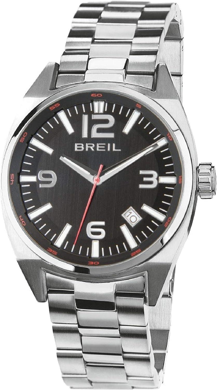 Reloj BREIL Hombre Master Esfera Negro e Correa in Acero, Movimiento Solo Tiempo - 3H Cuarzo
