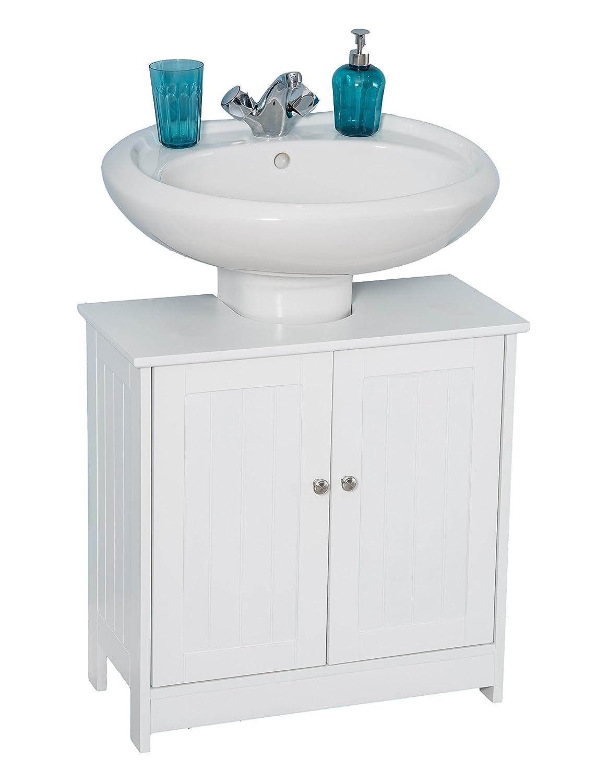 YAKOE unter Waschbecken Badezimmer Schrank Waschbecken Stauraum Holz 48/x 29/x 60/cm Wei/ß