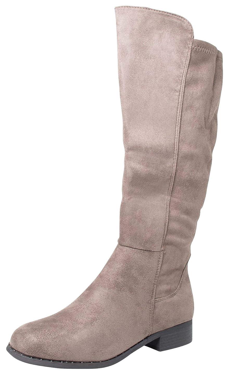 Fitters Footwear That Fits Damen Hochschaft Stiefel Übergröße 42-45 May Wildleder-Optik