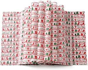 100pcs Christmas wax paper sheets Wrapping Tissue Food Picnic Paper for Food Basket Liner