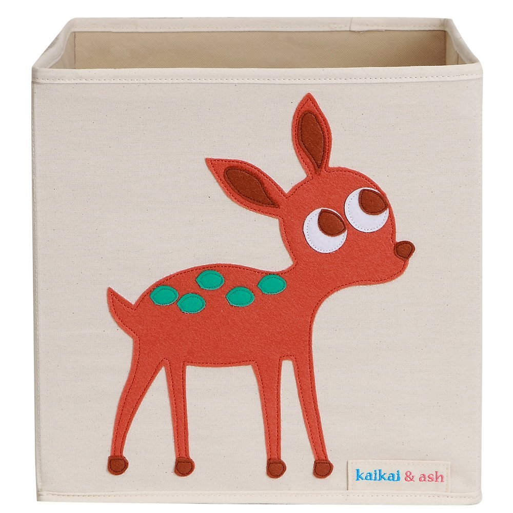 Elegant Deer, Large Canvas Storage Box